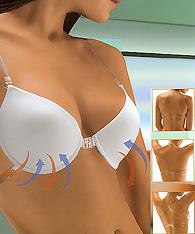 fbf1497cc8341 Clear Strap Bras - Clear Back bras - Backless Bras - Futura Naomi - Demi  bras
